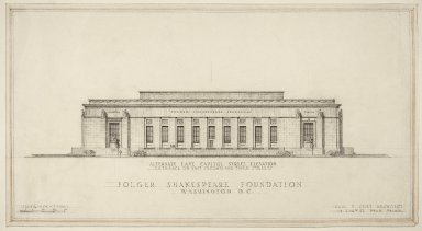 East Capitol Street elevation, bas reliefs above windows