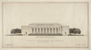 East Capitol Street elevation, lower wings