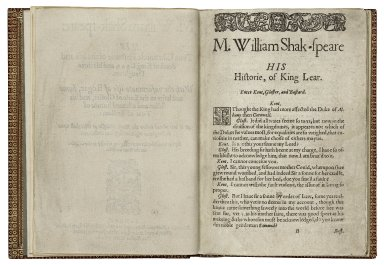 [King Lear] M. William Shak-speare: his true chronicle historie of the life and death of King Lear and his three daughters.