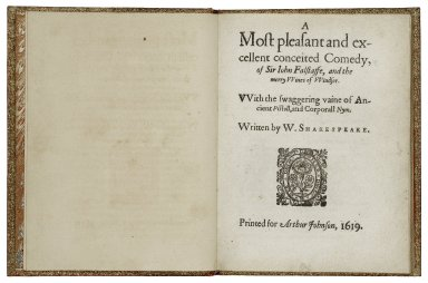 [Merry wives of Windsor] A most pleasant and excellent conceited comedy, of Sir Iohn Falstaffe, and the merry vviues of VVindsor.