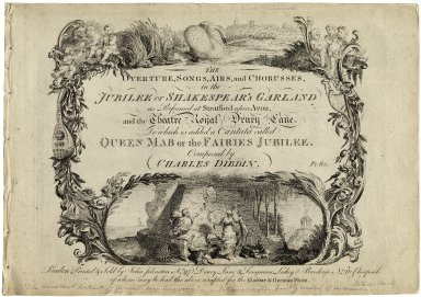 The overture, songs, airs, and chorusses, in the Jubilee or Shakespeare's Garland...