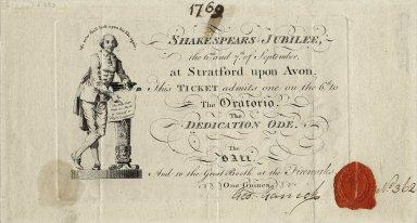 Ticket to Shakespeares Jubilee