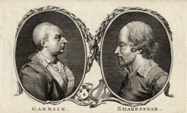 Garrick ; Shakespear [graphic] / J. Miller sc.