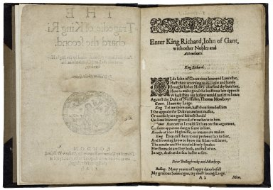 [King Richard II] The tragedie of King Richard the second.