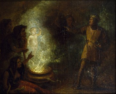 Macbeth recoiling from the apparition of the crowned child.