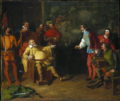 Falstaff impersonating the king