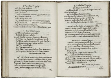 A Yorkshire tragedie. Not so new, as lamentable and true. VVritten by VV. Shakespeare.