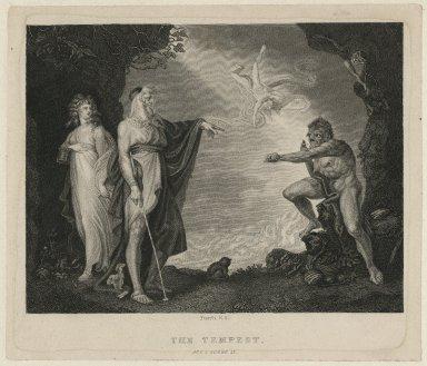 Tempest, Prospero, Miranda, Caliban, & Ariel, act I, scene II [graphic] / [Henry] Fuseli, del.