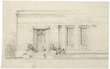 Sketch on tissue of near-final Folger Shakespeare Library