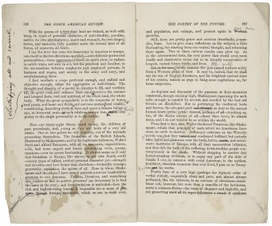 Poetry today in America -- Shakespeare -- the future [manuscript], 1881