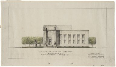 Architectural Drawing of Proposed Elevation: West Elevation Scheme A