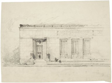 "Architectural Drawing of Proposed Elevation: [East Half of E. Capitol St. Elevation] 17""x12.5"""
