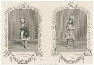 Miss Ellen Bateman as Richard 3rd ... ; Miss Kate Bateman as Richmond ... [graphic] / engraved by Hollis from a daguerrotype of Mayall.