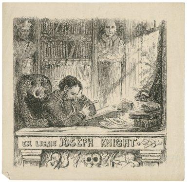 Ex libris Joseph Knight [graphic] / W.B.S., 1881.