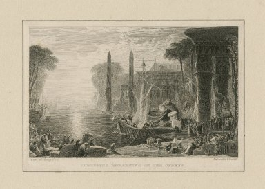 Cleopatra embarking on the Cyndus [graphic] / painted by F. Danby ; engraved by E. Goodall.