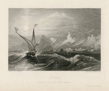 Cyprus, general view of the island ... [graphic] / drawn by G.F. Sargent ; engraved by John Woods.