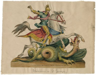 Ducrow as St. George [in St. George and the dragon, by Charles Isaac Mungo Dibdin] [graphic].