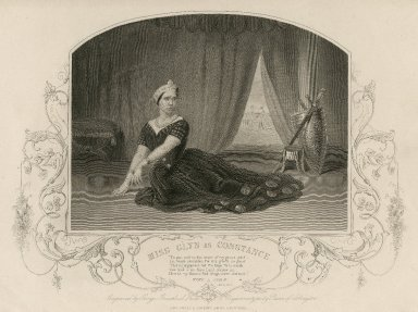 Miss Glyn as Constance ... [in Shakespeare's King John] [graphic] / engraved by George Greatbach from a daguerreotype by Paine of Islington.