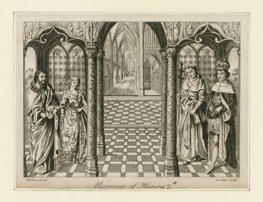Marriage of Henry 7th [graphic] / Mabuse, pinxt. ; LeCoeur, sculpt.