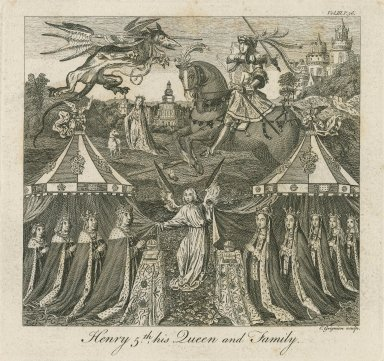 Henry 5th, his queen and family [graphic] / C. Grignion, sculp.