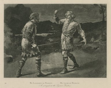 Mr. Alexander as Macduff, Mr. Irving as Macbeth [graphic] : [in Shakespeare's Macbeth] as played at the Lyceum theatre.
