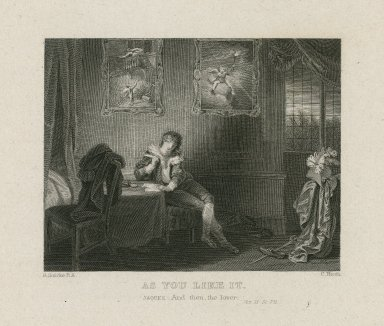 As you like it, Jaques: And then, the lover, [The seven ages of man], act II, sc. VII [graphic] / R. Smirke R.A. ; C. Heath.