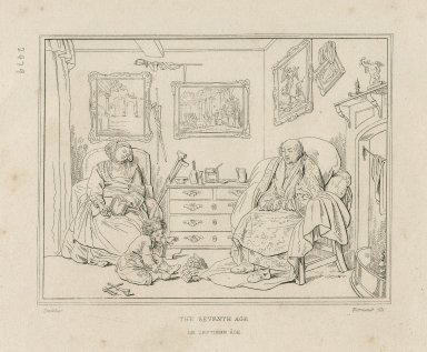 [As you like it, act II, scene 7, seven ages of man speech depicted in seven prints] [graphic] / Smirke ; Normand fils.