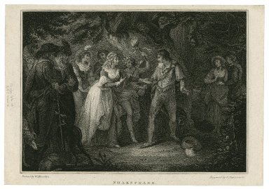 Shakespeare [As you like it, act V, scene 4] [graphic] / painted by W. Hamilton ; engrav'd by L. Schiovonetti [sic].