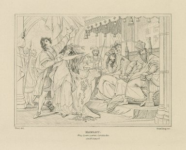 Hamlet. King, Queen, Laertes, Ophelia &c., act IV, sc. v [graphic] / West, del. ; Starling, sc.