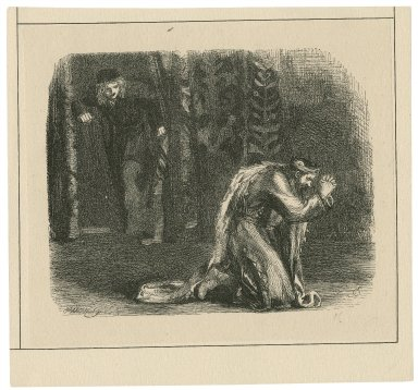 [Hamlet : the king praying ; act III, scene 3] [graphic] / J.G. ; Dalziel.