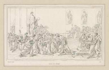 Mort de César [act III, sc. I,] [graphic] / Camucini [sic] pinx. ; AR.