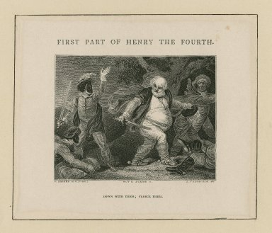 First part of Henry the fourth, act II, scene II [graphic] / R. Smirke R.A., pinxt. ; J. Thompson, sc.