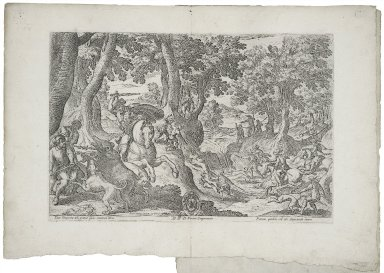 [Hunt of a Bear and a Stag, from Hunting Scenes Dedicated to Neri Dragomanno]