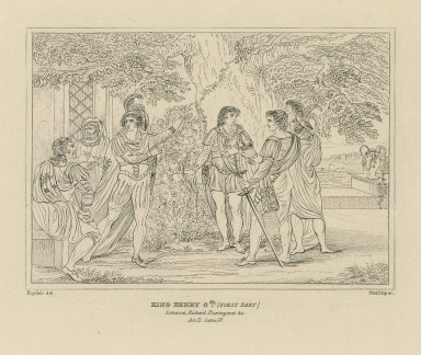 King Henry 6th (First Part) [graphic] : Somerset, Richard Plantagenet &c. Act II. Scene IV. / Boydell del. ; Starling sc.