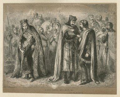 King John, Hubert, &c., act III, scene 3 [graphic] / T.H. Nicholson ; C.W. Sheeres.