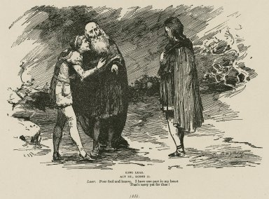 King Lear, act III, scene II, Lear: Poor fool and knave, I have one part in my heart that's sorry yet for thee! [graphic] / Smythson delt.