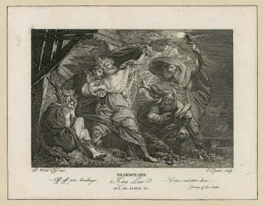 King Lear, act III, scene IV [graphic] / B. West, inv. ; L'Epine, sculp.