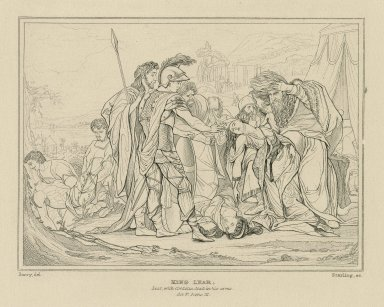 King Lear, Lear with Cordelia dead in his arms, act V scene III [graphic] / Barry del. ; Starling sc.