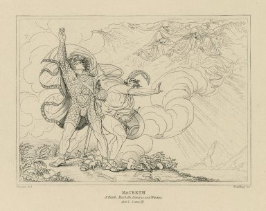 Macbeth, act I, scene III [graphic] / painted by H. Fuseli ; [William Francis] Starling, sc.