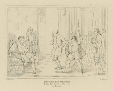 Measure for measure, act II, scene 1 [graphic] / painted by R. Smirke, R.A. ; Starling sc.
