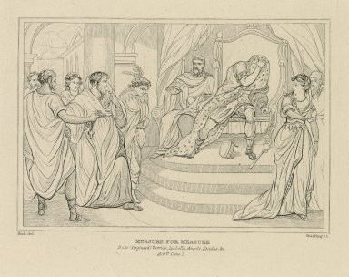 Measure for measure, act V, scene 1 ... [graphic] / painted by Thos. Kirk ; Starling, sc.
