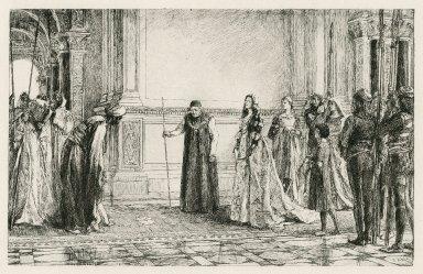 [Merchant of Venice, act II, scene 1] [graphic] / E.A. Abbey, 1888.