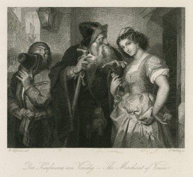 Der kaufmann von Venedig - The merchant of Venice [II, 5] [graphic] / H. Hofmann del. ; G. Goldberg sc.