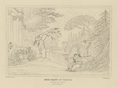Merchant of Venice, Lorenzo and Jessica, act V, scene 1 [graphic] / Hodges, del. ; Starling, sc.