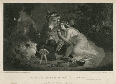 A midsummer night's dream, [act IV, sc. 1] [graphic] / engd. for the Eclectic magazine ; painted by Sir Edwin Landseer, R.A. ; engd. by John Sartain, Phila.