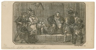 Much ado about nothing, act 4, scene 2 [graphic] / [after the original by Robert Smirke ; anonymous printmaker].