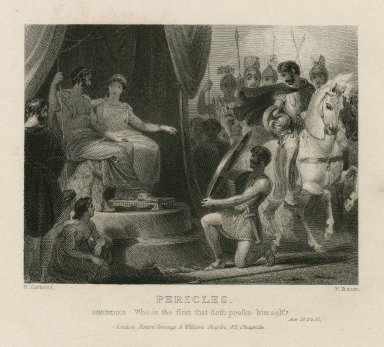 Pericles, Simondies: Who is the first that doth prefer himself? act II, sc. II [graphic] / H. Corbould ; F. Bacon.