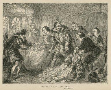 Katherine and Petruchio, Taming the shrew, act IV, scene III [graphic] / T.H. Nicholson ; C.W. Sheeres.