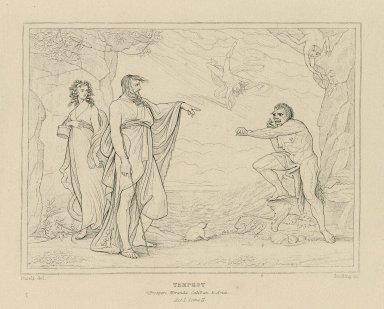 Tempest, Prospero, Miranda, Caliban, & Ariel, act I, scene II [graphic] / [Henry] Fuseli, del. ; [William Francis] Starling, sc.