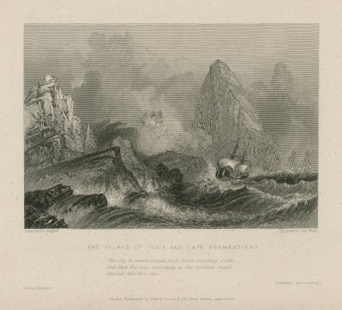 The island of Ivica and Cape Formentiera ... Tempest, act 1, scene 1 [graphic] / drawn by G.F. Sargent ; engraved by John Woods.